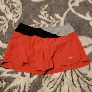 Nike XS Crew Soft Band Running Shorts Red FT5